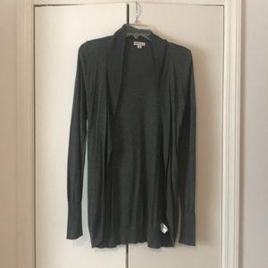 Long gray/grey cardigan